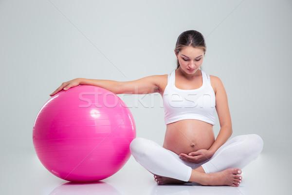 Как заниматься беременной на шаре 82