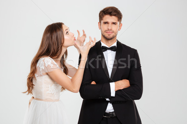 Young couple conflict Stock photo © deandrobot