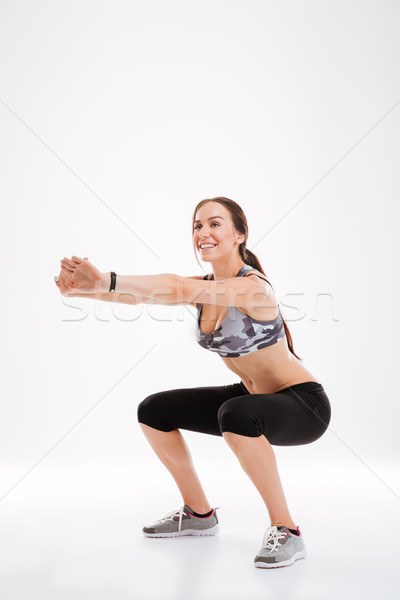 Full length aerobic woman is engaged Stock photo © deandrobot