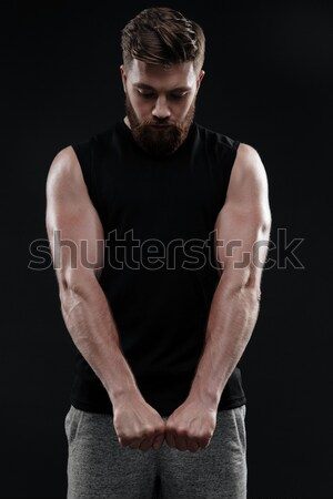 Strong athletic man Stock photo © deandrobot