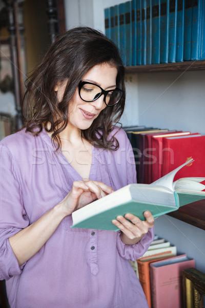 портрет концентрированный чтение книга Постоянный Сток-фото © deandrobot