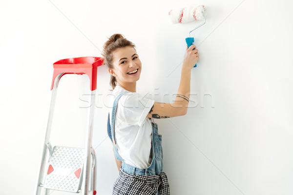 Senhora em pé novo reparar Foto stock © deandrobot