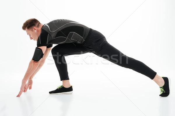 Yandan görünüş genç sağlıklı bacaklar Stok fotoğraf © deandrobot