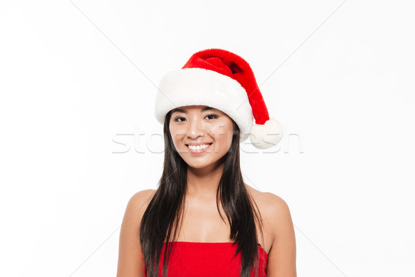 Stock photo: Close up portrait of a smiling happy young asian woman