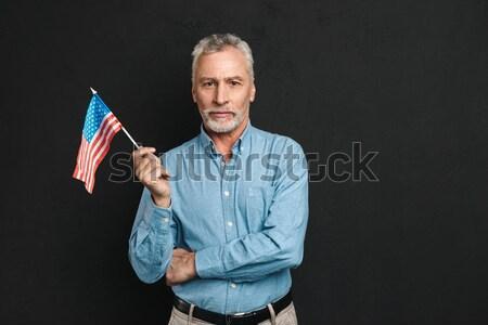 Portré tanácstalan férfi orvos egyenruha tart konténer Stock fotó © deandrobot