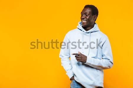 Heureux supérieurs homme mains pliées affaires Photo stock © deandrobot