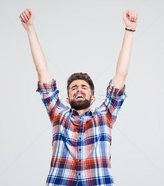 человека успех молодым человеком изолированный Сток-фото © deandrobot