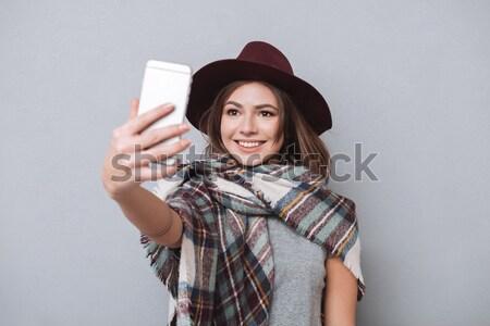 女性 スカーフ 帽子 宝石 ギフトボックス ストックフォト © deandrobot