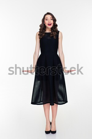 Maravilhado mulher make-up estilo retro feliz Foto stock © deandrobot
