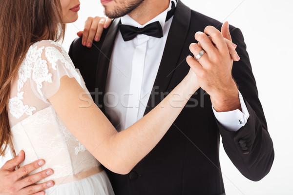 Stockfoto: Bruiloft · dans · gezicht · vrouwen · gelukkig · schoonheid