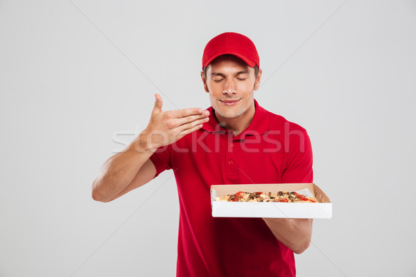 Pizza delivery boy Stock photo © deandrobot