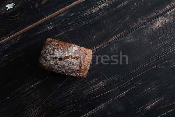 Top view image of bread with flour Stock photo © deandrobot