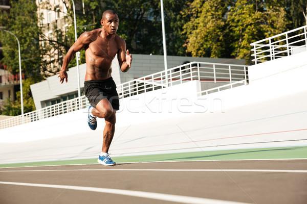 写真 小さな アフロ アメリカン 選手 男 ストックフォト © deandrobot