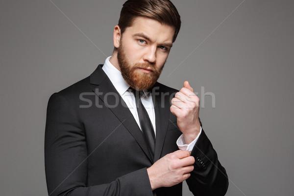 портрет молодые бизнесмен костюм рубашку изолированный Сток-фото © deandrobot