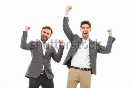 Foto d'archivio: Ritratto · due · felice · uomini · d'affari · successo