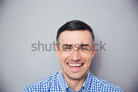 Agacé homme shirt détendre bit travail acharné Photo stock © deandrobot