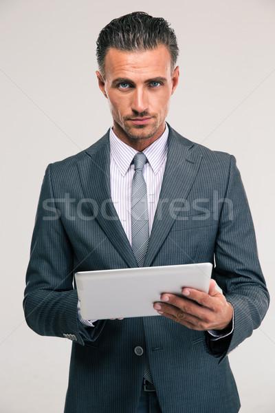 Stockfoto: Knap · zakenman · portret · pak · naar