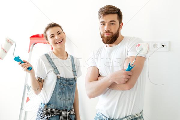 молодые любящий пару Постоянный новых Сток-фото © deandrobot