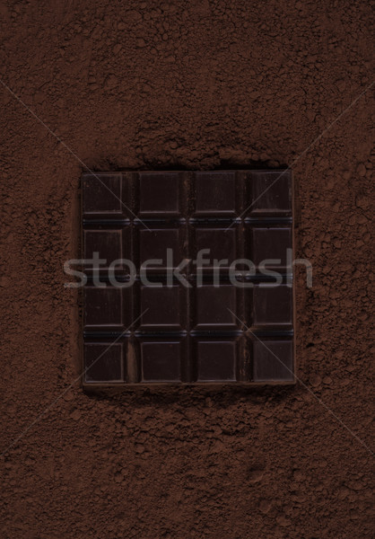 Stockfoto: Top · pure · chocola · bar · chocolade · poeder