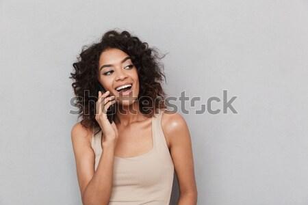 Сток-фото: портрет · улыбаясь · молодые · африканских · женщину