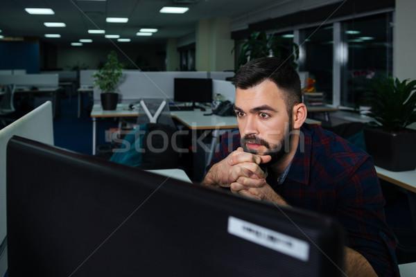 élégant affaires séance travail travail fin Photo stock © deandrobot
