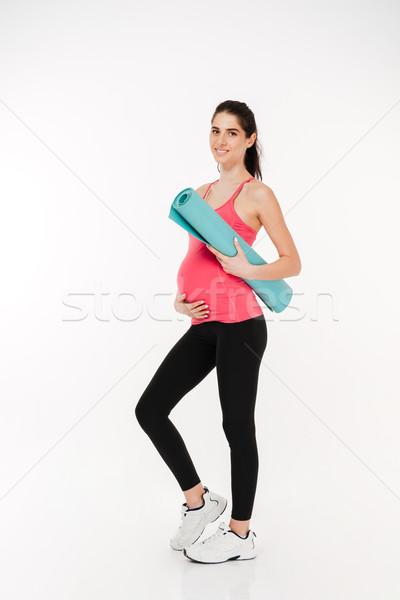 Ritratto incinta fitness donna fitness Foto d'archivio © deandrobot