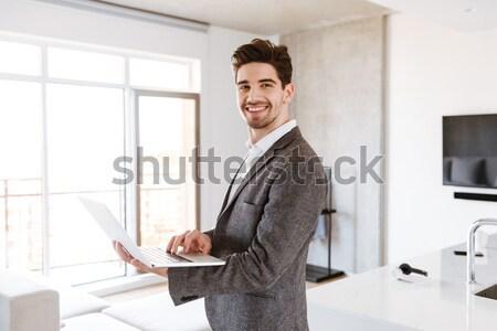 бородатый деловой человек очки бизнеса служба Сток-фото © deandrobot