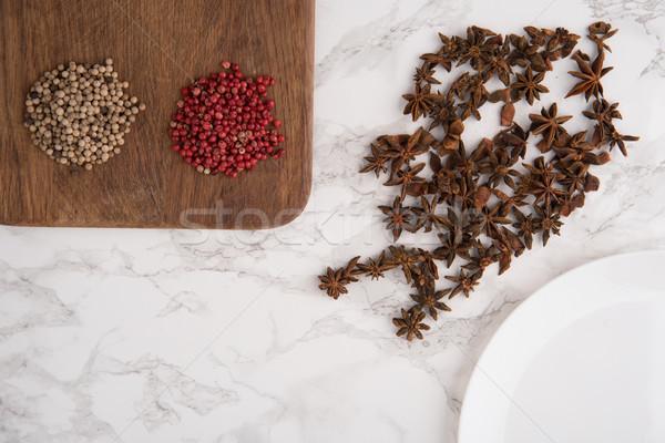 ストックフォト: 肖像 · アニス · 種子 · 赤 · 唐辛子