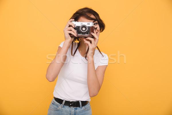 ストックフォト: 肖像 · 小さな · ブルネット · 少女 · 写真