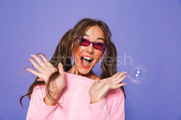 Retrato glamour mujer atractiva dos sudar sudadera Foto stock © deandrobot