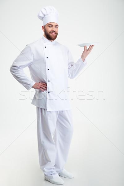 Stock fotó: Portré · boldog · férfi · szakács · szakács · áll