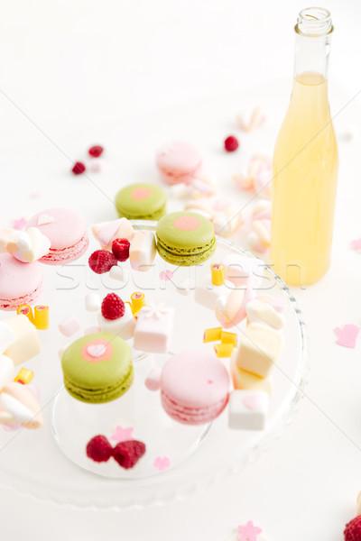Kleurrijk zoete bessen smakelijk limonade tabel Stockfoto © deandrobot