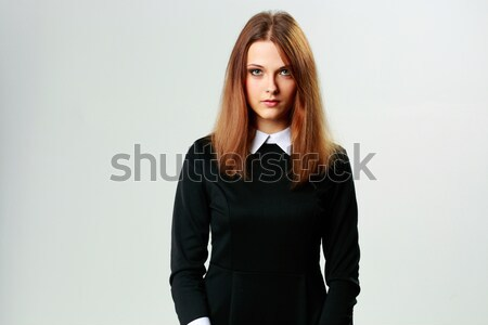 Ritratto giovani donna formale abito Foto d'archivio © deandrobot