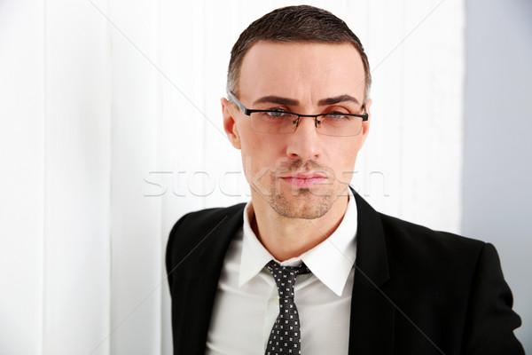 Portret zakenman bril business schoonheid corporate Stockfoto © deandrobot