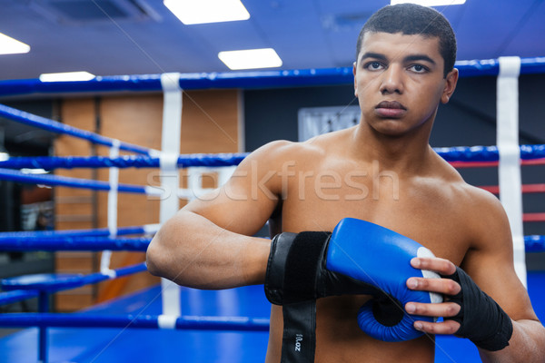 Boxer getting ready for fight Stock photo © deandrobot
