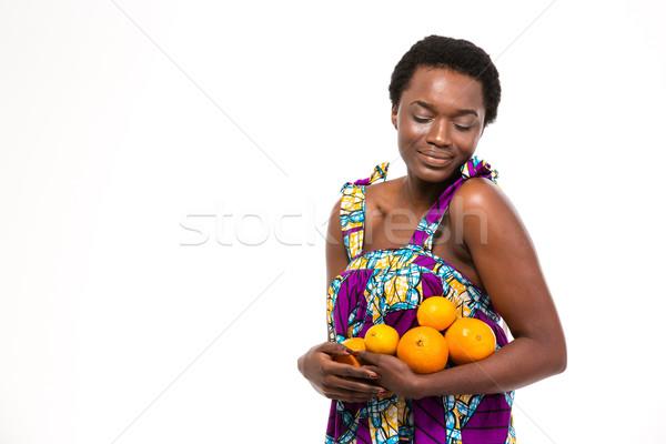 Sensueel aantrekkelijk afrikaanse vrouw heldere Stockfoto © deandrobot