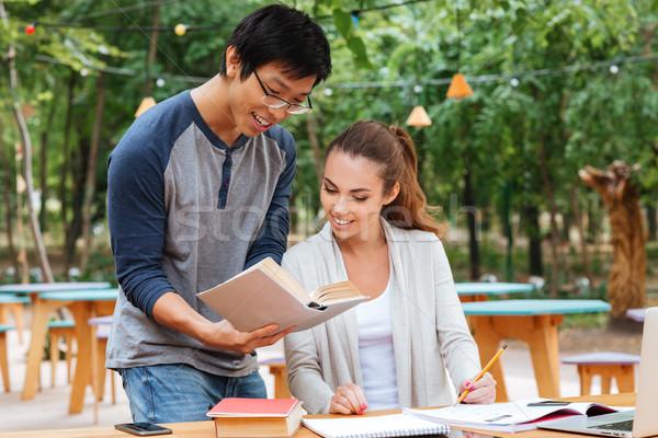 Zdjęcia stock: Szczęśliwy · asian · człowiek · stałego · nauczania · dość