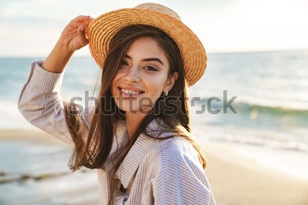 Blonde woman on balcony Stock photo © deandrobot