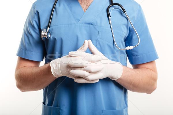 Mannelijke medische arts verpleegkundige chirurgisch Stockfoto © deandrobot