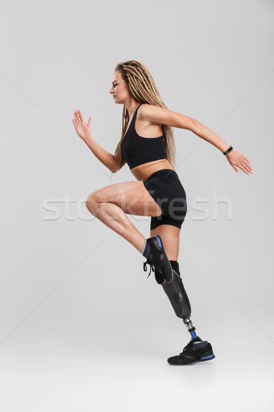 удивительный здорового молодые инвалидов Сток-фото © deandrobot