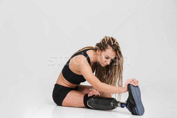 Zdrowych młodych niepełnosprawnych sportsmenka Zdjęcia stock © deandrobot