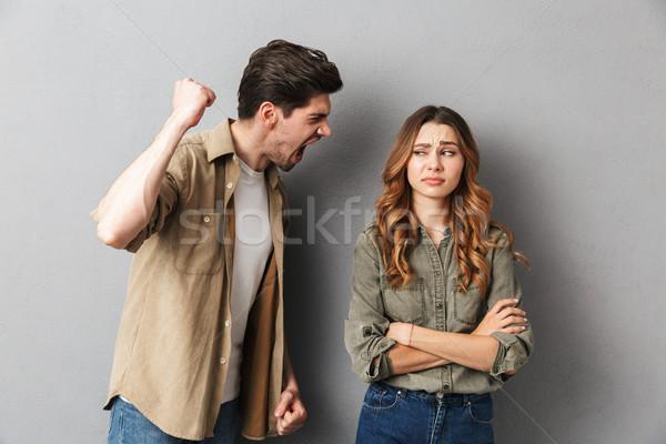 Сток-фото: несчастный · аргумент · сердиться · человека