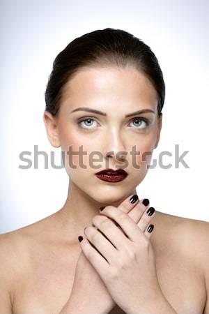 Bellezza ritratto perfetto pelle donna Foto d'archivio © deandrobot