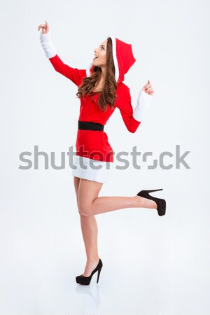 Young girl in gymnast suit Stock photo © deandrobot