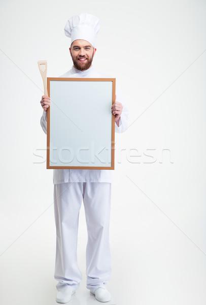 мужчины повар Кука равномерный совета Сток-фото © deandrobot