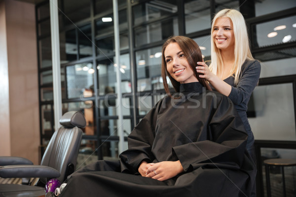 Woman in hairdressing beauty salon Stock photo © deandrobot