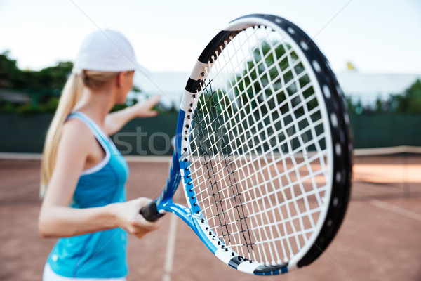 вид сзади суд волос лет теннис Сток-фото © deandrobot