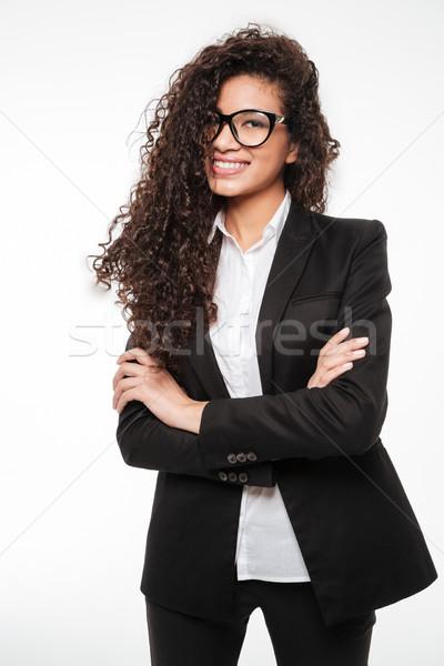 信じられない アフリカ ビジネス 女性 着用 眼鏡 ストックフォト © deandrobot