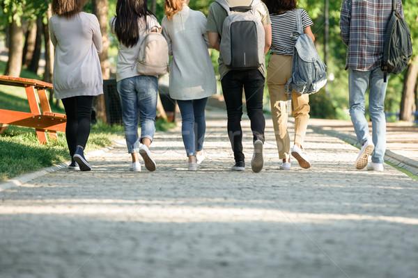 вид сзади фотография группа молодые студентов Сток-фото © deandrobot