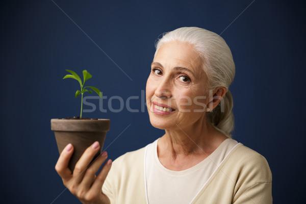 Foto vrolijk vrouw jonge Stockfoto © deandrobot